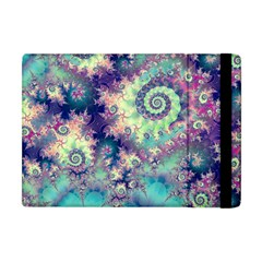 Violet Teal Sea Shells, Abstract Underwater Forest Apple Ipad Mini Flip Case by DianeClancy