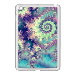 Violet Teal Sea Shells, Abstract Underwater Forest Apple Ipad Mini Case (white) by DianeClancy