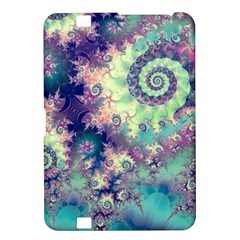 Violet Teal Sea Shells, Abstract Underwater Forest Kindle Fire HD 8.9  Hardshell Case