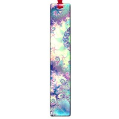 Violet Teal Sea Shells, Abstract Underwater Forest Large Book Mark by DianeClancy