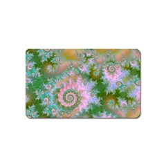 Rose Forest Green, Abstract Swirl Dance Magnet (name Card) by DianeClancy