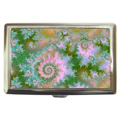 Rose Forest Green, Abstract Swirl Dance Cigarette Money Case by DianeClancy