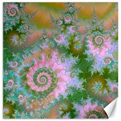Rose Forest Green, Abstract Swirl Dance Canvas 16  X 16  (unframed) by DianeClancy