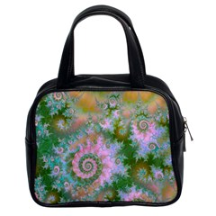 Rose Forest Green, Abstract Swirl Dance Classic Handbag (two Sides) by DianeClancy