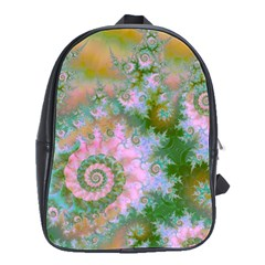 Rose Forest Green, Abstract Swirl Dance School Bag (large) by DianeClancy