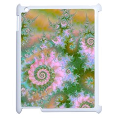 Rose Forest Green, Abstract Swirl Dance Apple Ipad 2 Case (white) by DianeClancy