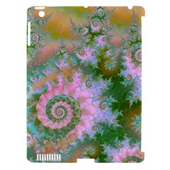 Rose Forest Green, Abstract Swirl Dance Apple Ipad 3/4 Hardshell Case (compatible With Smart Cover) by DianeClancy