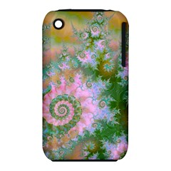 Rose Forest Green, Abstract Swirl Dance Apple Iphone 3g/3gs Hardshell Case (pc+silicone) by DianeClancy