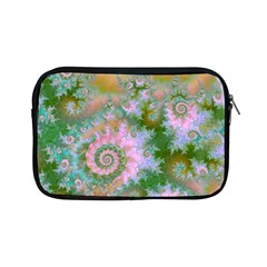 Rose Forest Green, Abstract Swirl Dance Apple Ipad Mini Zippered Sleeve by DianeClancy