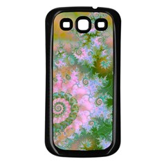 Rose Forest Green, Abstract Swirl Dance Samsung Galaxy S3 Back Case (black) by DianeClancy