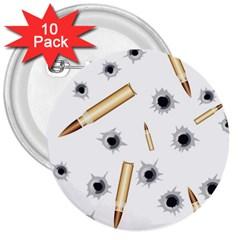 Bulletsnbulletholes 3  Button (10 pack)