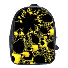 Special Fractal 04 Yellow School Bag (large)