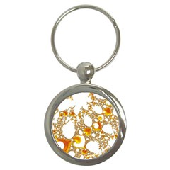 Special Fractal 04 Orange Key Chain (Round) by ImpressiveMoments
