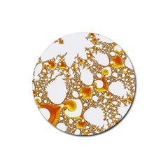 Special Fractal 04 Orange Drink Coasters 4 Pack (round) by ImpressiveMoments