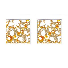 Special Fractal 04 Orange Cufflinks (Square) by ImpressiveMoments