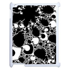 Special Fractal 04 B&w Apple Ipad 2 Case (white) by ImpressiveMoments