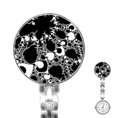 Special Fractal 04 B&w Stainless Steel Nurses Watch by ImpressiveMoments