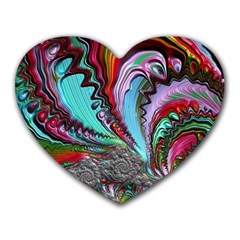 Special Fractal 02 Red Mouse Pad (heart) by ImpressiveMoments