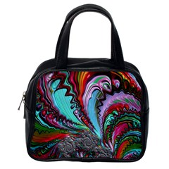 Special Fractal 02 Red Classic Handbag (one Side) by ImpressiveMoments