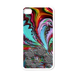 Special Fractal 02 Red Apple Iphone 4 Case (white) by ImpressiveMoments