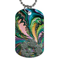 Special Fractal 02 Purple Dog Tag (two Sided)  by ImpressiveMoments