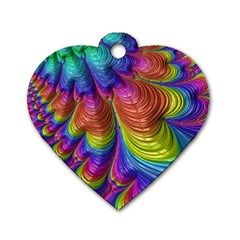Radiant Sunday Neon Dog Tag Heart (two Sided) by ImpressiveMoments