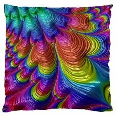 Radiant Sunday Neon Large Cushion Case (single Sided)  by ImpressiveMoments