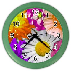 Lovely Flowers,purple Wall Clock (color) by ImpressiveMoments