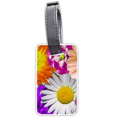 Lovely Flowers,purple Luggage Tag (two Sides)