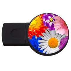 Lovely Flowers, Blue 2gb Usb Flash Drive (round) by ImpressiveMoments