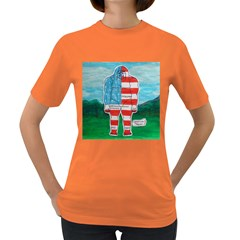 Painted Flag Big Foot Aust Women s T Shirt (colored) by creationtruth