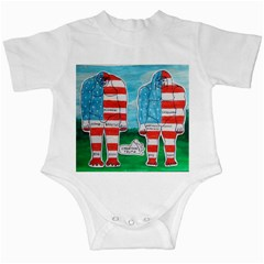 2 Painted U,s,a,flag Big Foots Infant Bodysuit by creationtruth