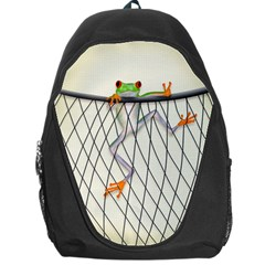 Peace Frog Backpack Bag by Contest1893598