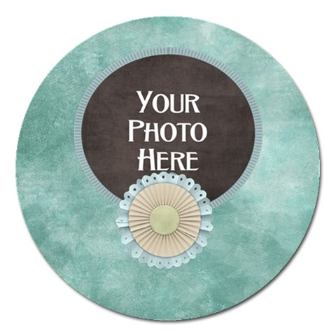 Today Round Magnet By Lisa Minor   Magnet 5  (round)   Az3jxojhcxa1   Www Artscow Com Front