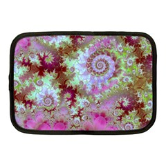 Raspberry Lime Delight, Abstract Ferris Wheel Netbook Case (medium) by DianeClancy