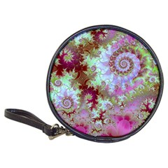 Raspberry Lime Delight, Abstract Ferris Wheel Classic 20-CD Wallet by DianeClancy