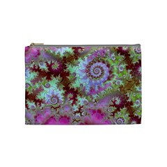 Raspberry Lime Delight, Abstract Ferris Wheel Cosmetic Bag (medium) by DianeClancy
