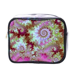 Raspberry Lime Delight, Abstract Ferris Wheel Mini Toiletries Bag (one Side) by DianeClancy