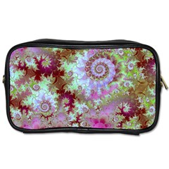 Raspberry Lime Delight, Abstract Ferris Wheel Toiletries Bag (two Sides) by DianeClancy