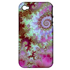 Raspberry Lime Delight, Abstract Ferris Wheel Apple Iphone 4/4s Hardshell Case (pc+silicone) by DianeClancy
