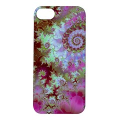 Raspberry Lime Delight, Abstract Ferris Wheel Apple Iphone 5s Hardshell Case by DianeClancy