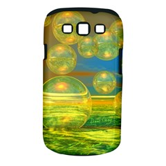 Golden Days, Abstract Yellow Azure Tranquility Samsung Galaxy S Iii Classic Hardshell Case (pc+silicone) by DianeClancy