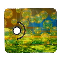 Golden Days, Abstract Yellow Azure Tranquility Samsung Galaxy S  Iii Flip 360 Case by DianeClancy