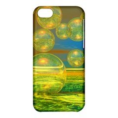 Golden Days, Abstract Yellow Azure Tranquility Apple Iphone 5c Hardshell Case by DianeClancy