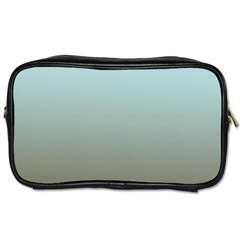 Blue Gold Gradient Travel Toiletry Bag (two Sides) by zenandchic