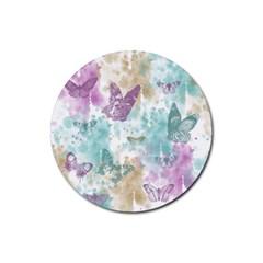 Joy Butterflies Drink Coasters 4 Pack (round) by zenandchic