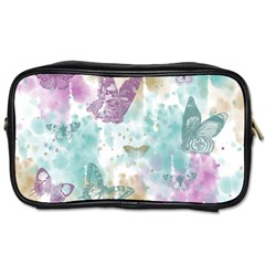 Joy Butterflies Travel Toiletry Bag (one Side) by zenandchic