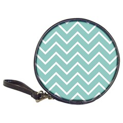 Blue And White Chevron CD Wallet by zenandchic