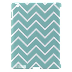 Blue And White Chevron Apple Ipad 3/4 Hardshell Case (compatible With Smart Cover) by zenandchic