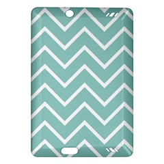 Blue And White Chevron Kindle Fire Hd 7  (2nd Gen) Hardshell Case by zenandchic